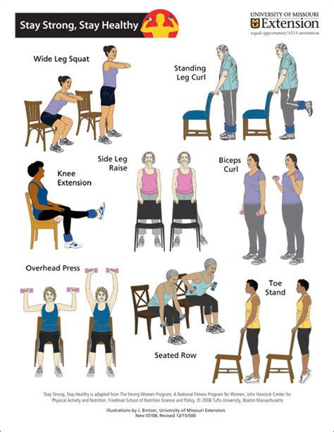 printable exercise program for seniors 7 best images of printable exercises for elderly