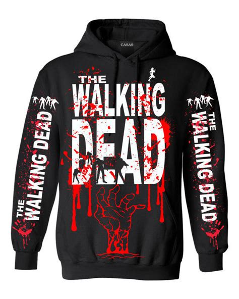 Sweater Hoodie The Walking Dead Must Yomerch 1 walking dead pull hoodie 2102 from casas int