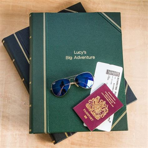 large personalised personalised large leather scrapbook by noble macmillan