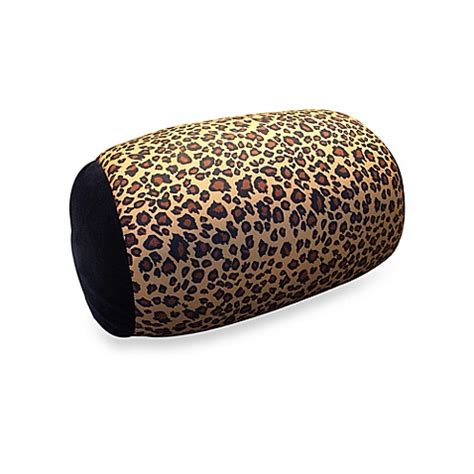microbead pillow bed bath and beyond homedics 174 sqush tube animal print pillow leopard bed