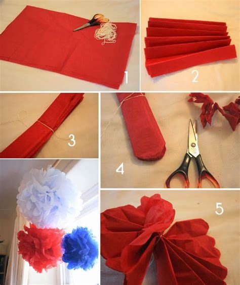 Pom Poms From Crepe Paper - how to make crepe paper pom poms diy decorations