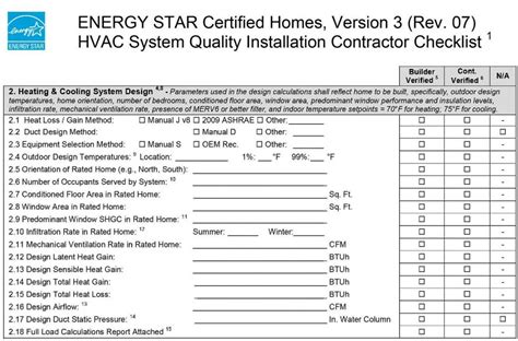 Hvac Installation Checklist Bing Images Basc 3 Report Template