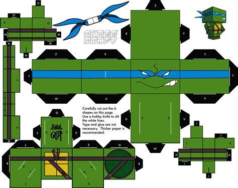 Mutant Turtles Papercraft - 2003 leonardo by cubeecraft on deviantart