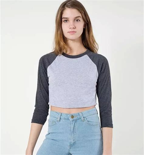 New Cropped For by New 2015 Summer Style American Brand Apparel Crop Tops