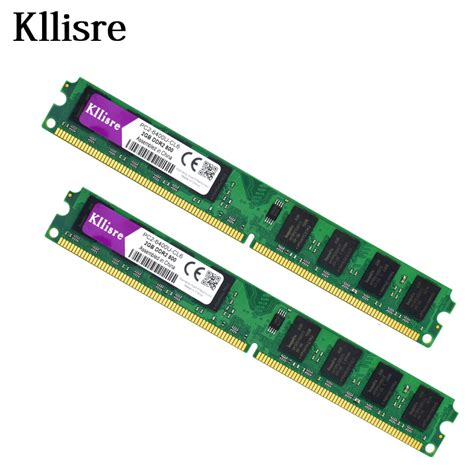Ram Ddr2 2 Giga aliexpress buy kllisre 4gb 2pcsx2gb ddr2 2gb ram 800mhz pc2 6400u 240pin 1 8v cl6 desktop