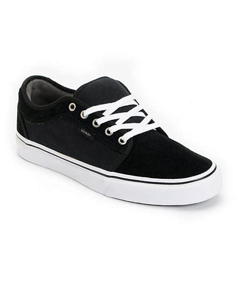 vans chukka low black pewter white skate shoes mens