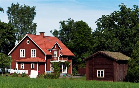swedish home panoramio photo of red and white swedish house