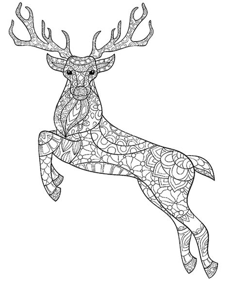52 best images about adult coloring pages on pinterest deer stag printable colouring pages for adults