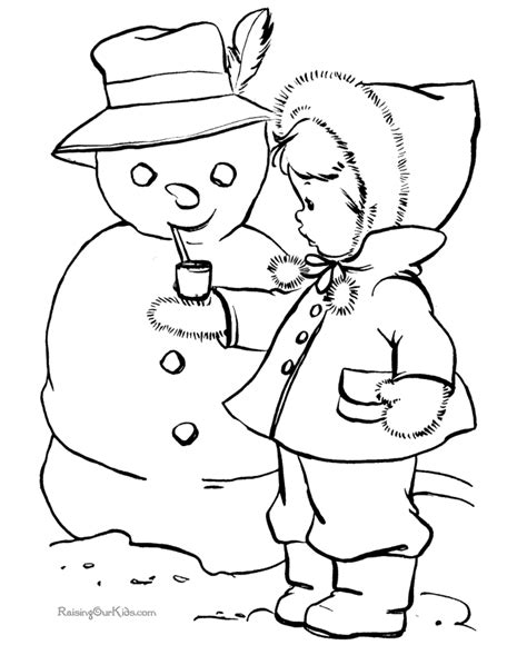 Snowman Coloring Picture 011 Free Printable Snowman Coloring Pages