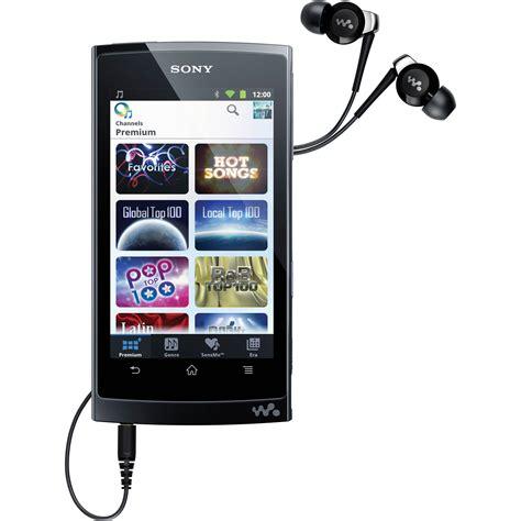 mobile media player sony 16gb z series mobile media player nwzz1050blk b h photo