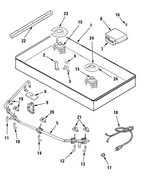 Jenn Air Cooktops Parts jenn air gas cooktop parts model jgc9536bdb sears partsdirect
