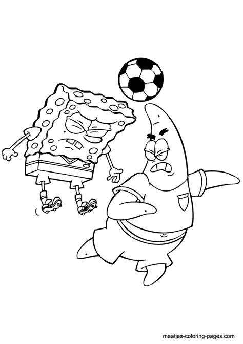 spongebob and patrick playing the game coloring pages