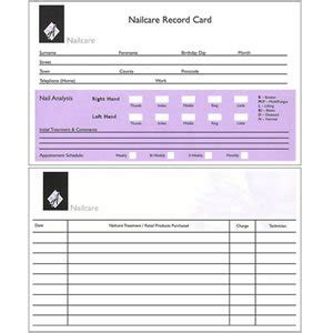 customer information card template agenda client record cards nails pack of 100 co uk