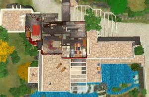 Falling Water Floor Plan Pdf by Mod The Sims Frank Lloyd Wright S Quot Fallingwater Quot