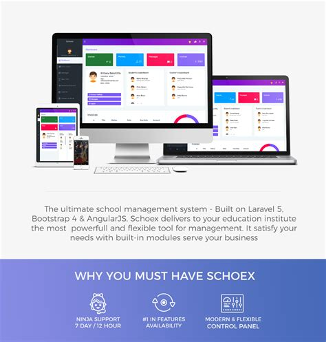 bootstrap templates for school management system schoex ultimate school management system wonsterscript