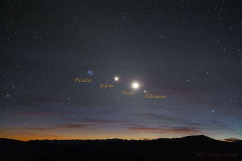 Bright Light In Western Sky by And Planets Align In Sky Photo