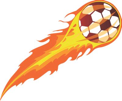 Free Clipart Flaming Soccer by Soccer With Flames Clipart Free Best