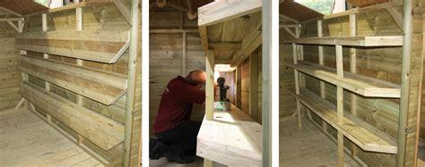 Shelves For Sheds by Shop Storage Shed The Wooden Workshop Oakford