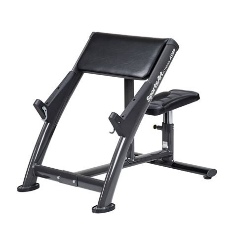 weight bench with arm curl sportsart arm curl bench a999