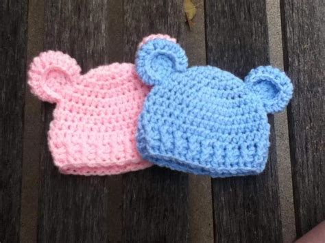 crochet pattern for baby hat quot baby bear quot simple baby beanie craftsy
