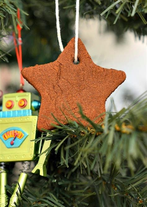 house vegan homemade chai scented christmas ornaments