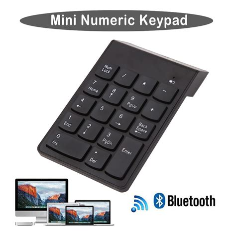 Keyboard Numeik Pad wireless bluetooth number pad numeric keypad 18 key