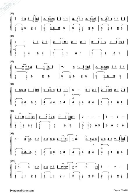 despacito chord despacito luis fonsi numbered musical notation preview 4
