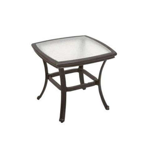 Patio Table Glass Replacement Home Depot Martha Stewart Living Augusta 20 In Patio Side Table
