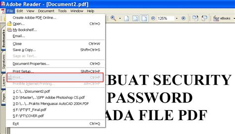 membuat watermark pada file pdf membuat security password pada file pdf download
