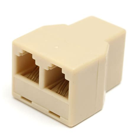 Splitter Rj 11 Adapter 1 3 Aktif 1 to 2 rj11 telephone phone line y splitter adapter connector alex nld