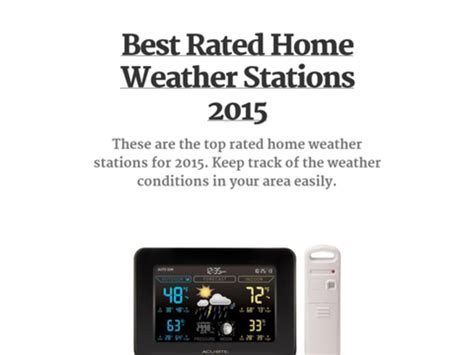 best home weather stations 2015 a listly list