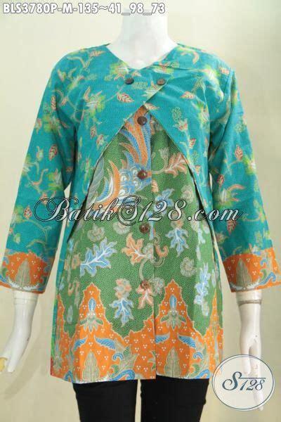 Baju Saat Kerja baju blus paling keren saat ini busana batik printing desain kombinasi balero yang modis dan