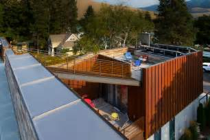 roofing a house sustainable house integrates a roof terrace by chris pardo