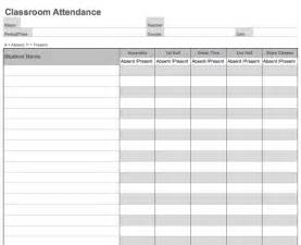 Is download link for this daily classroom attendance sheet template