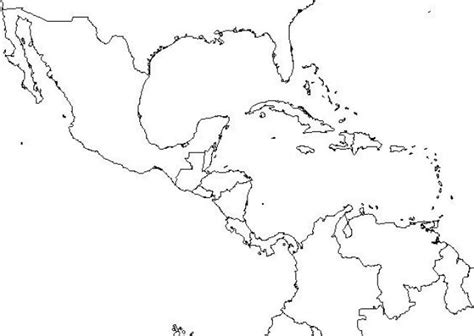 coloring page map of central america central america printable coloring pages