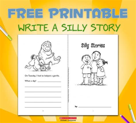 themes for english story writing minibook silly stories funny kids creative writing and
