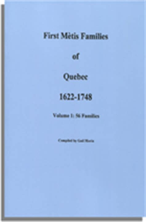 metis families of volume 2 jean nicolet and a nipissing books mtis families of 1622 1748 volume 1