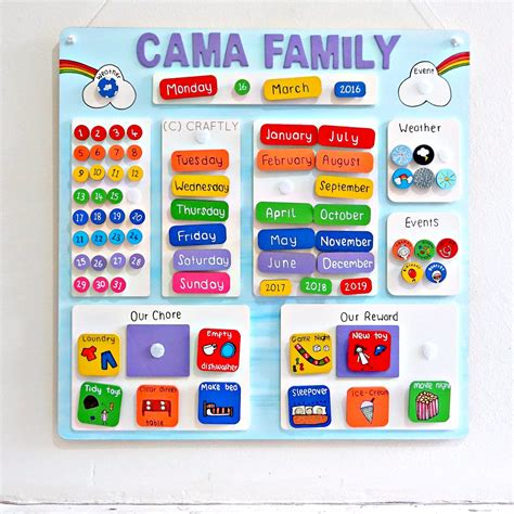 Discover Rewards Calendar Personalised Calendar Wooden Reward Chart Chores