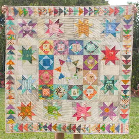 Medallion Quilts Free Patterns by I Am Sol Solstice Medallion Quilt Pattern