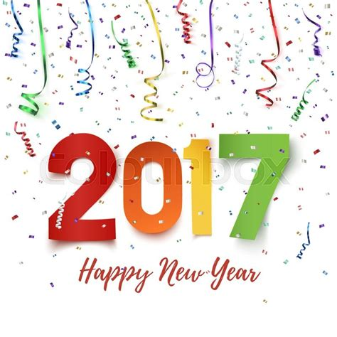 Happy New Year 2017 Card Template by Happy New Year 2017 Celebration Background Happy New Year