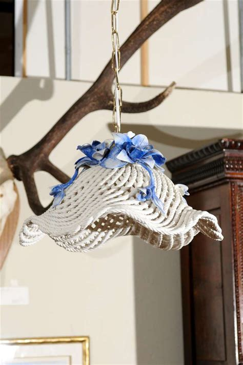 Blue And White Chandelier Blue And White Porcelain Flower Basket Chandelier For Sale At 1stdibs