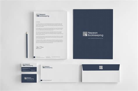 business card letterhead package bold modern stationery design for nepean bookkeeping by