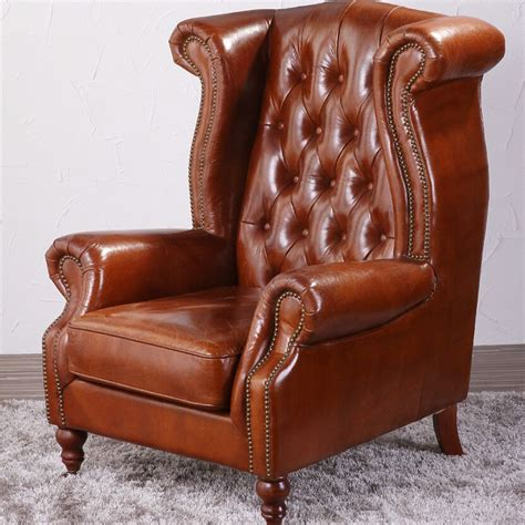 leather studded wingback chair deconstructed studded high back leather wing chair view