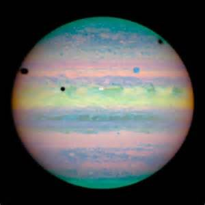 planet color astronomy jupiter and large moons