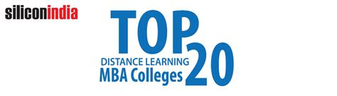 Top Universities For Distance Mba by Top 20 Distance Learning Mba Colleges