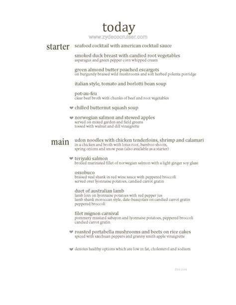 Carnival Dining Room Menu by Carnival Dining Room Menu Related Keywords Suggestions