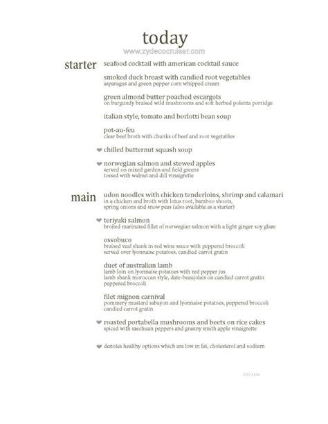 carnival dining room menu m010 carnival magic 12 day dining room dinner menus