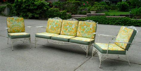 wrought iron vintage patio furniture items similar to vintage woodard iron patio set sofa pair