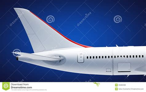 tail section of an airplane airplane tail stock photo image of airliner section