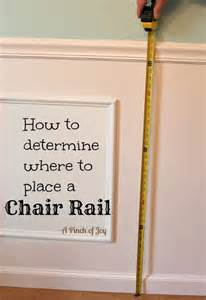 average height of chair rail how to determine where to place a chair rail